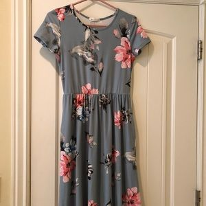 Called to surf floral dress